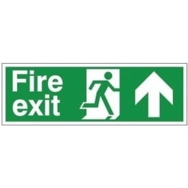 Fire Exit Arrow Up Signs