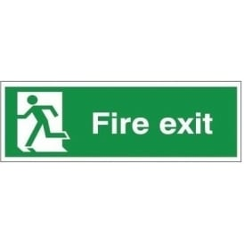 Fire exit - man running Left Signs