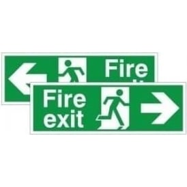 Fire exit running man arrow - Double Sided Hanging Sign