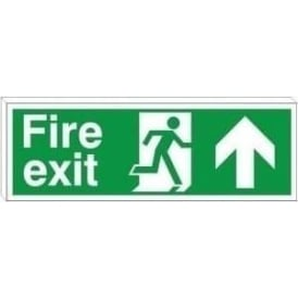 Fire exit running man arrow up - Double Sided Hanging Sign