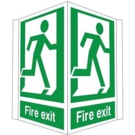 Fire exit - running man - Double Sided Sign
