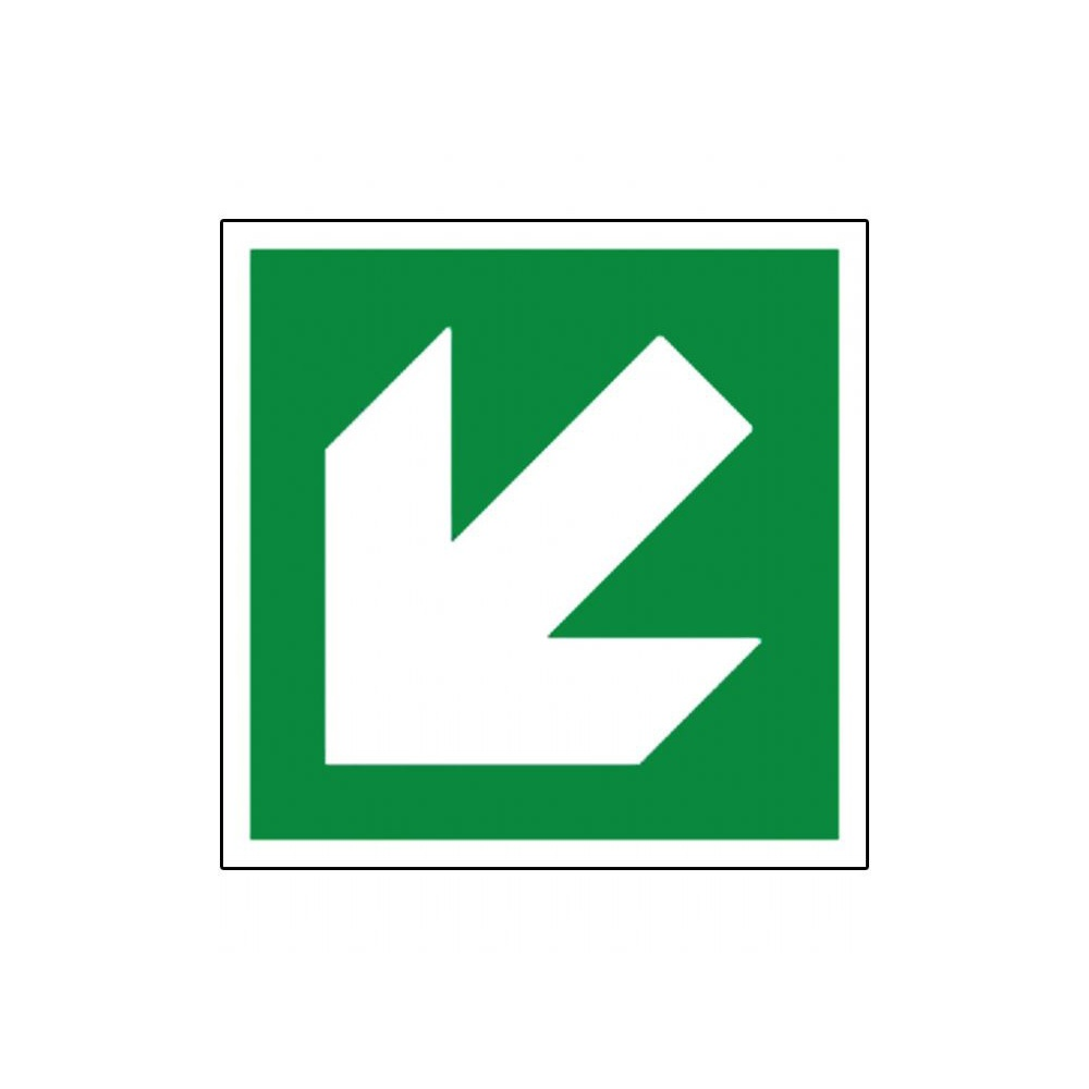 Fire exit sign arrow pointing down left parrs workplace fire exit sign arrow buycottarizona Images