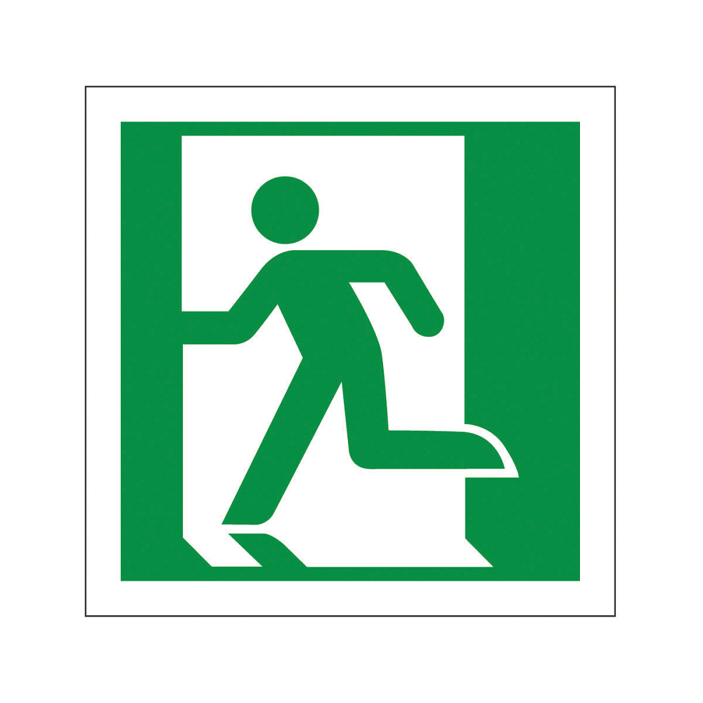 Fire Exit Sign : Fire exit sign running man left signs identification