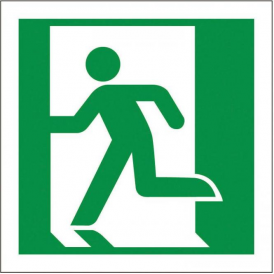 Fire Exit Sign - Running Man Left