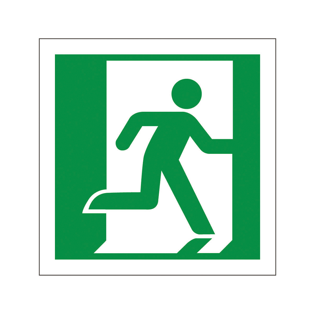 Fire Exit Sign : Fire exit sign running man right signs