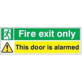 Fire Exit Sign - This Door Is Alarmed