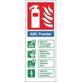 Fire Extinguisher Identification Sign: ABC Powder
