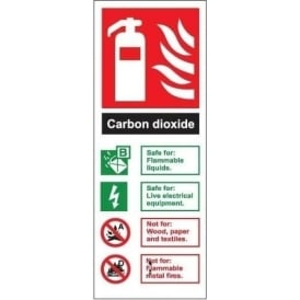 Fire Extinguisher Identification Sign: Carbon Dioxide
