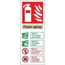 Fire Extinguisher Identification Sign: Foam Spray