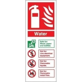 Fire Extinguisher Identification Sign: Water