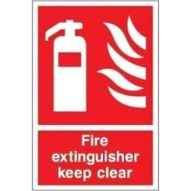 Fire Extinguisher Keep Clear Signs