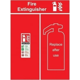 Fire Extinguisher - Replace after use Sign