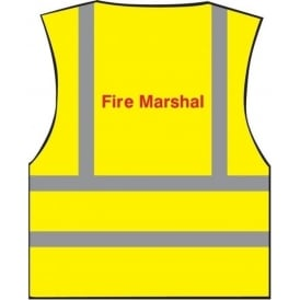 Fire Marshal Printed Hi-visibility Waistcoat Vest
