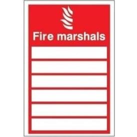 Fire Marshals Signs