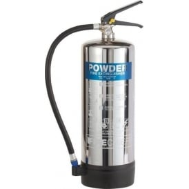 Firechief Elite Polished Stainless Steel Powder Fire Extinguisher - 6kg