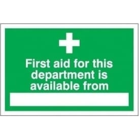 First Aid for this department is available from...Sign