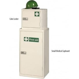 First Aid Medical Cupboard and Cube Locker