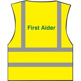 First Aider Printed Hi-visibility Waistcoat Vest