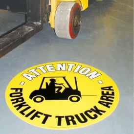 Floor Marker Sign: Forklift Truck Area