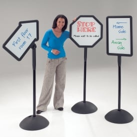 Floorstanding White Board Magnetic Signs