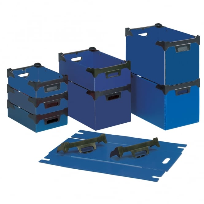 Fluted Stacking Boxes