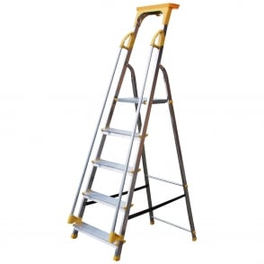 Folding Aluminium Platform Step Ladders with Twin Handrail