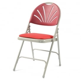 Folding Chair x 4 - Comfort Back with upholstered seat