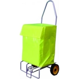 Folding Mail Trolley with PVC Bag Cap: 100kg