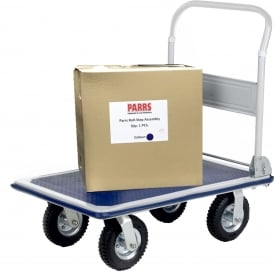 Folding Steel Platform Truck with pneumatic tyres Cap: 300kg