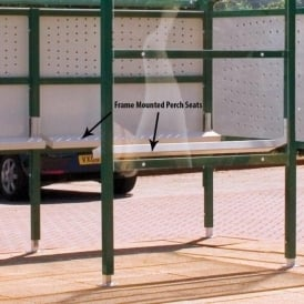 Frame Mounted Perch Seats for Premier Smoking Shelters