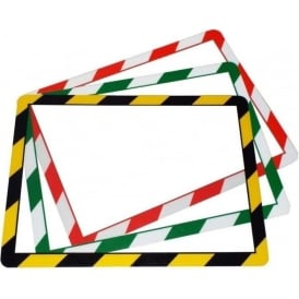 Frames 4 Docs Poster Frames - Hazard Warning - Self-Adhesive or Magentic
