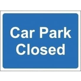 Freestanding Car Park Sign: Car park closed