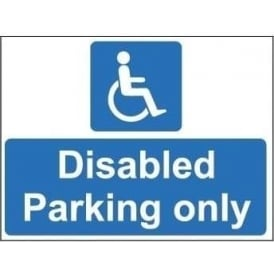 Freestanding Car Park Sign: Disabled only