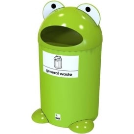Frog Buddy Novelty Recycling Bin Cap: 55lt