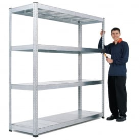 Galvanised Heavy Duty Shelving - Width: 1830 or 2400mm x Height 1980mm