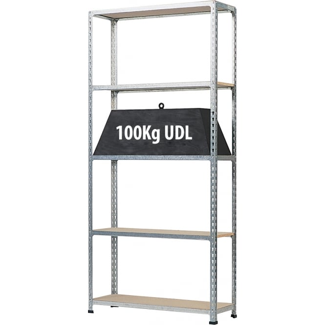 Galvanised Medium Duty Shelving - Width 915mm or 1200mm x Height 1980mm