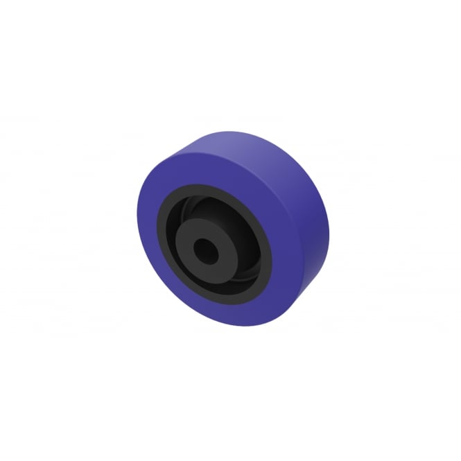 General Purpose Non marking Blue Rubber Wheels Roller Bearing