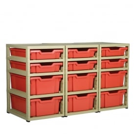 GratStack Tray Storage System - Triple Column