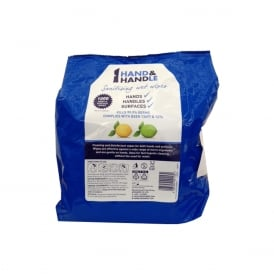 Hand & Handle Sanitising Wet Wipes