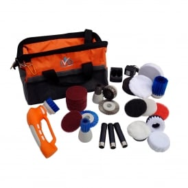 Hand Held Battery Powered Multi Scrubber - Full Contractors Kit