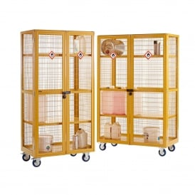 Hazardous Boxwells Shelf Trucks with Doors Cap: 500kg