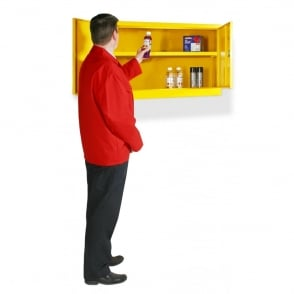 Hazardous Storage Cabinets Fully Welded Wall Mounted