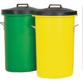 Heavy Duty Coloured Dustbins Cap: 85lt