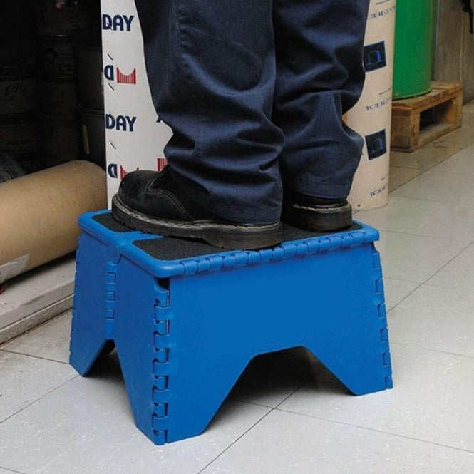 Heavy Duty Fold Flat Plastic Step Stool