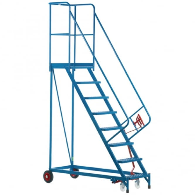 Heavy Duty Mobile Safety Steps with Expanded Steel Treads 3 to 18 Tread