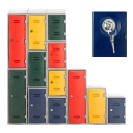 Heavy Duty Plastic Lockers with Cam/Key Lock