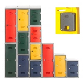 Heavy Duty Plastic Lockers with Coin Return Lock