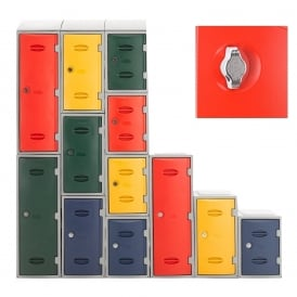Heavy Duty Plastic Lockers with Swivel Catch for Padlocks
