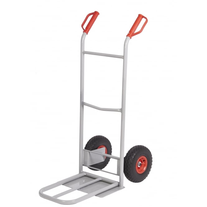 Heavy Duty Steel Sack Truck with Dual Foot-iron and REACH Wheels Cap: 230kg