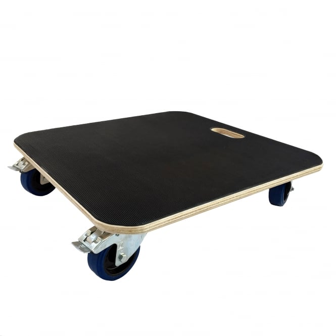 Heavy Duty Wooden Dolly/Skate Cap With Brake: 600kg